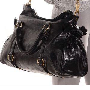 MIU MIU Vitello Black satchel